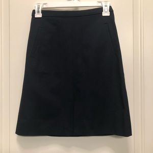 JCrew cotton twill navy blue pencil skirt 00p